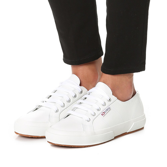 superga sneakers white leather order